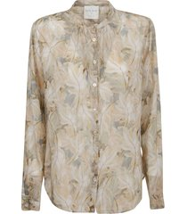 forte forte caress du bois print cotton silk voile grandfather shirt