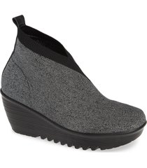 women's bernie mev. sally wedge bootie, size 11us - grey