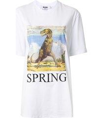 msgm dinosaur spring t-shirt - white