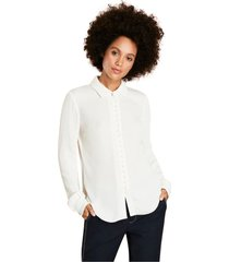 blusa mujer crepe blanco brooks brothers