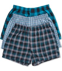 hanes men's 3-pk. ultimate woven boxers