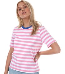 only womens live love stripe t-shirt size 10 in pink