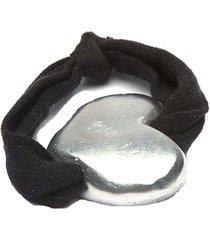 pulsera de mujer plateada jersey coeur gris by vestopazzo