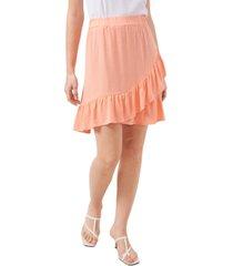 riley & rae crossover ruffled-hem skirt, created for macy's