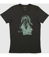 camiseta changing rvca - verde - masculino - dafiti
