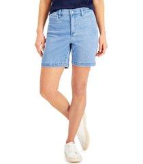 charter club petite denim shorts, created for macy's