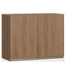 armário 2 portas madeira be mobiliário marrom