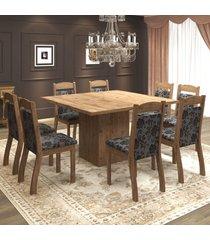 mesa de jantar 8 lugares voal dover/cobre - mobilarte móveis