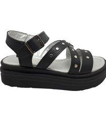 sandalia negra keek