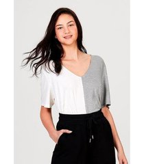 blusa manga curta em malha de viscose - 7c111aen2 hering feminina - feminino