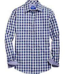 egara blue & purple check sport shirt