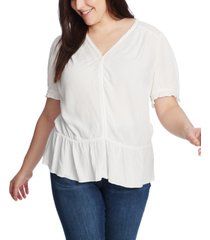 1.state trendy plus size v-neck peplum top