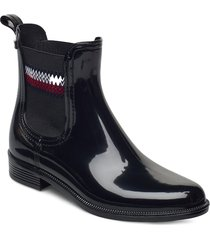 corporate elastic rainboot shoes chelsea boots svart tommy hilfiger