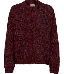 chunky knitted cardigan gebreide trui cardigan rood bobo choses