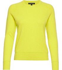 italian merino-blend crew-neck sweater stickad tröja gul banana republic