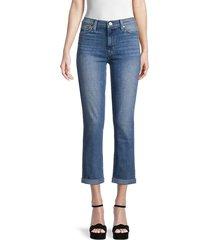 hudson women's blair high-rise straight jeans - azalea - size 25 (2)