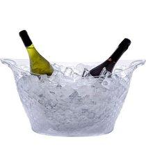 champanheira luxxor em poliestireno transparente 18 litros paramount