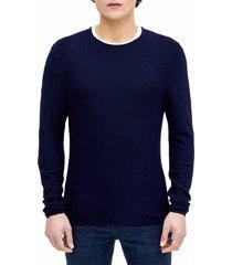 sweater casual textura navy perry ellis
