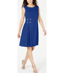 jm collection petite grommet-waist dress, created for macy's