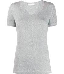 fabiana filippi short-sleeved ribbed t-shirt - grey