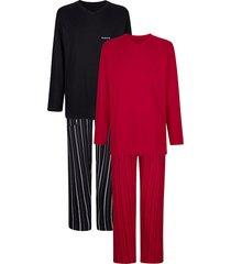 pyjama's per 2 stuks babista robijnrood::zwart
