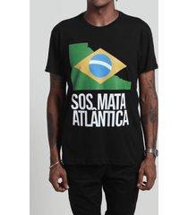 camiseta sos mata atlântica preta