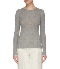 browning' rib knit cashmere silk blend sweater