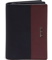 men's tumi nassau leather gusseted card case - black