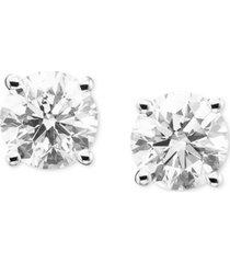 certified diamond stud earrings (2 ct. t.w.) in 14k gold or white gold