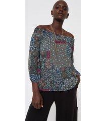 blouse boat neckline mandala - material finishes - xxl