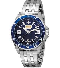 just cavalli men's sport stainless steel bracelet watch