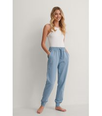 na-kd basic bassweatpants - blue