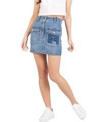 gonna mini jeans