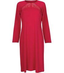 pyjama's / nachthemden lisca evelyn lange mouwen nachthemd rood