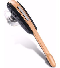 audífonos bluetooth deportivos, auriculares de estilo de música de negocios audifonos manos libres utilizado auriculares inalámbricos de micrófono estupendo fresco (oro negro)