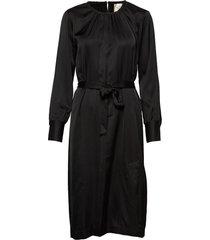 claire ls midi dress jurk knielengte zwart second female