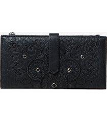wallet with galactic mandalas - black - u