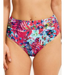 fiji deep gathered bikini brief