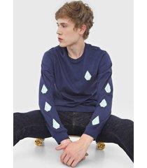 camiseta volcom deadly stones azul-marinho