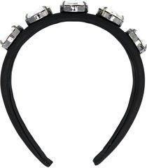 christopher kane crystal headband - black