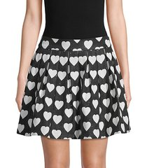 fizer heart-print pleated skirt