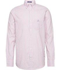 d1. wb oxford stripe reg bd overhemd business roze gant