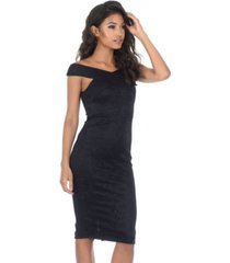 ax paris cross over lace midi dress