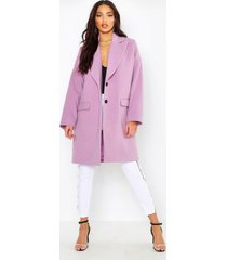 wool look boyfriend coat, lilac