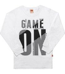 camiseta livy inverno game on branco
