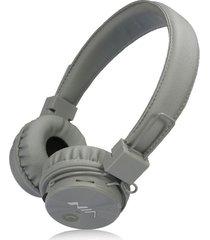 audífonos gamer, gaming estéreo hd inalámbricos audifonos bluetooth manos libres de los auriculares originales de nia x3 deportivos con la radio de la tarjeta fm del tf de la ayuda del micrófono (gris)
