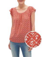 blusa rojo gap floral print