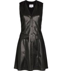 nanushka menphi vegan leather mini dress - black