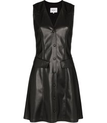 nanushka menphi vegan leather mini dress - black