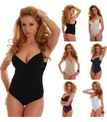 cotton womens bodysuit hard cup b c thong 6113 leotard lady body suit top sexy